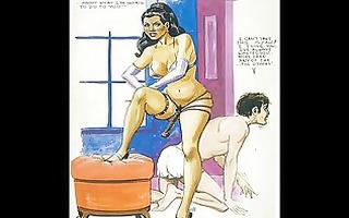 vintage cruel sexual femdom comic