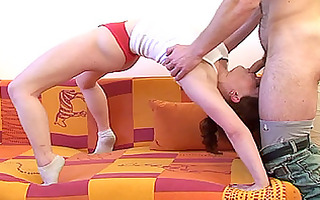 flexible floozy engulfing cock