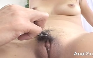 fingers and toys unfathomable in her korean ass