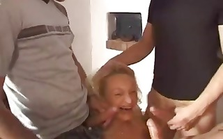 blond french mature receives cocks for her to