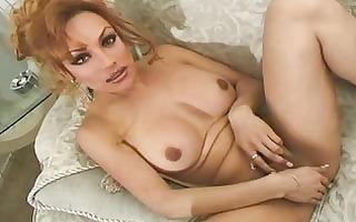 redhead shemale masturbater