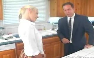 concupiscent blond legal age teenager babysitter