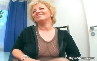 busty aged blonde receives slit fucked
