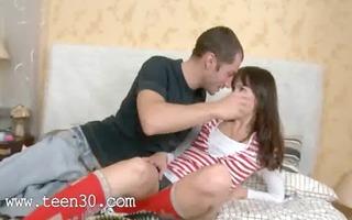 russian teenie cumshotted hard by ally
