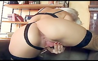 slim glamour sweetheart teases then gets dped in