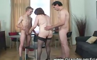lustful chaps have their way with granny