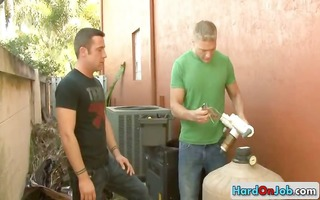 plumber gets paid with great oral part2