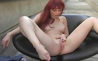hot justine jolie rubbing her sweet pink wet crack