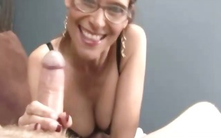 lascivious mother i receives facial after tuggin