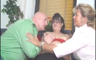 large mature women share this old boys cock and