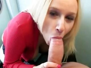 Busty euro blonde fucked in traintoilet