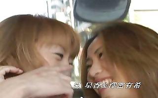 lesbians giving a kiss in public