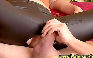fetish pissing indoors with hot babes