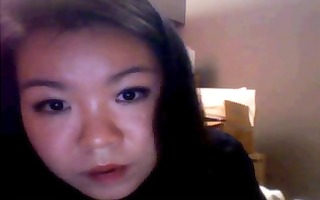 juvenile asian dilettante is on her livecam