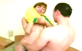 russian dark brown d like to fuck eats knob and
