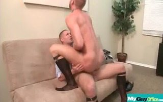 the gay office - homosexual anal sex & cock