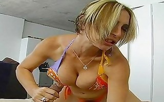 breasty blond mother i sucks strong prick in