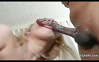 sexual blonde girlfriend engulf and fuck a