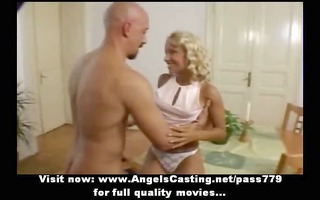 superb precious hot blond wife with small milk