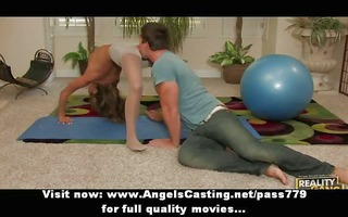 flexible astonishing redhead doxy doing oral