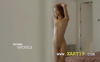 exotic beauty rubbing clitoris in art movie scene