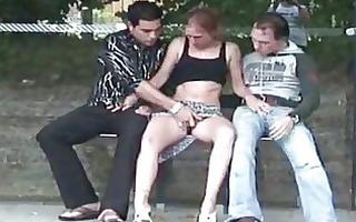 public sex bizarre bus stop some