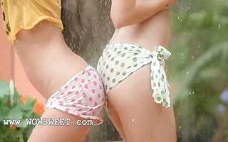 extreme girls in the rain