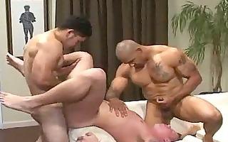 large muscle bareback three-some