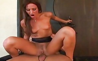 tempting dark brown milf acquires her ass