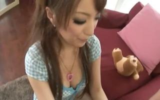 asian schoolgirl eating petite ramrod