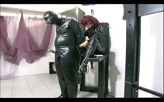 hawt female-dominator tortures her serf