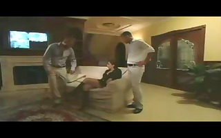 cornered wife thrashed by two