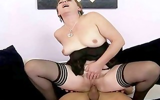 hot granny acquires fucked hard by youthful chap