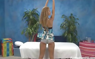 blonde hottie with a truly hot gazoo rides the