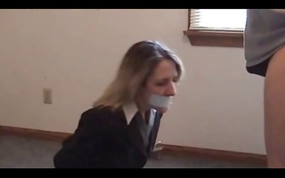 whore acquire tape-gagged, tied - and then