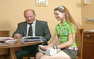 young legal age teenager girl &; old man 2