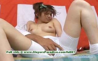 yuzuru teen japanese girl receives slit licked