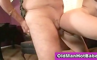 old dude fucking a young blond