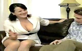 hawt breasty smokin mom bangs soninlaw