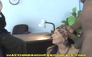 teen daughter swallows swarthy penis jizz