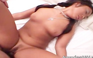 asian slut receives her curly snatch drilled part5