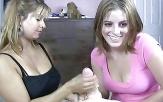golden-haired mother i shows her daughter how to