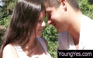 youthful dark brown legal age teenager shares