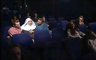 nun fuck 2 lads in cinema -m1991a1-