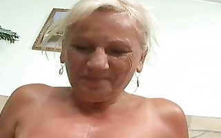 naughty breasty granny in hard pov action