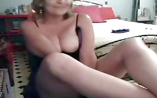 my kinky hawt mum having enjoyment on web cam.