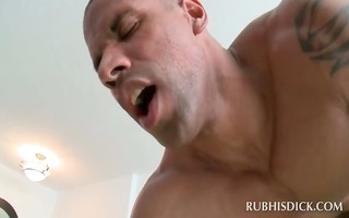 black masseur acquires gazoo drilled by white