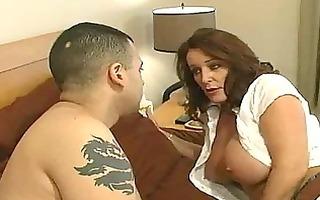 older slut with large mounds receives a bedroom