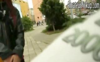 hawt czech gal anal gangbanged in a building