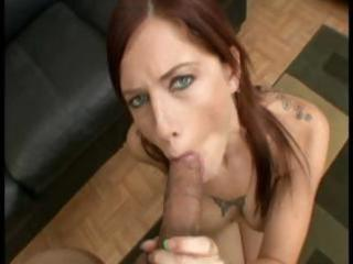 Sexy tattooed redhead Tricia Oaks gives a hot